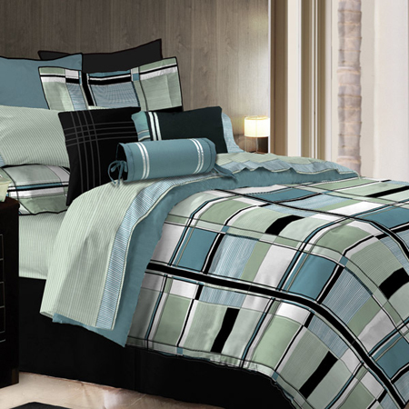 Fabulous Contemporary Bedding Sets Bedrooms Awesome Bedroom With Plaid Patterned Modern Bedding