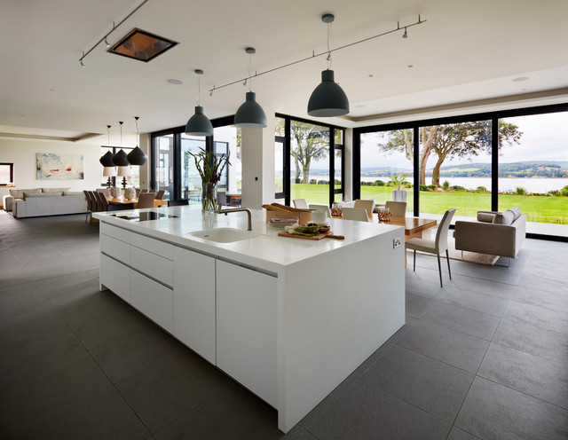 Fabulous Luxury Contemporary Kitchens Contemporary New Build With Estuary Views Contemporary Kitchen