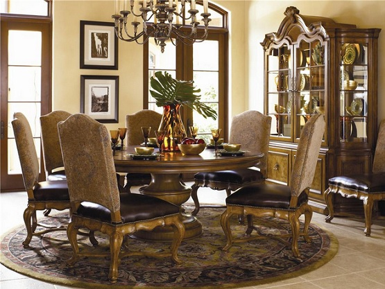 Fabulous Luxury Dining Room Furniture Sets Luxurious Tuscan Dining Room Set With Bunching Curio Home Interiors