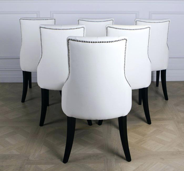 Fabulous Luxury Leather Dining Chairs White Leather Dining Chair Black Orchid Luxury White Leather