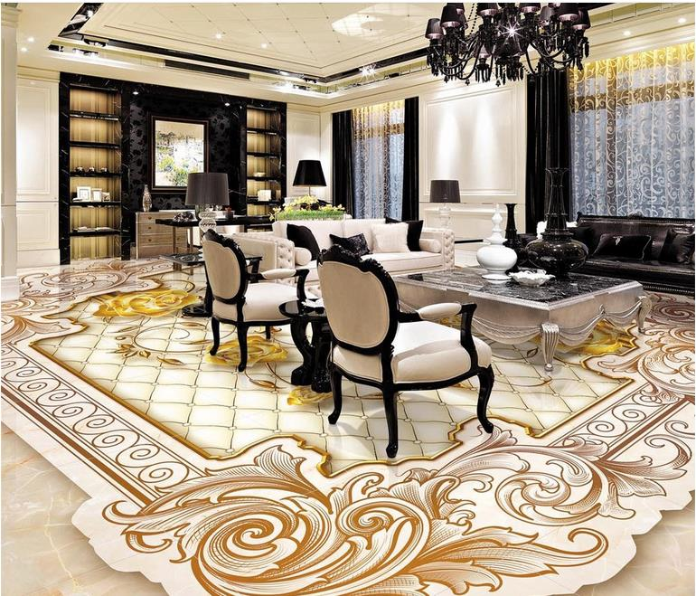 Fabulous Luxury Tiles For Living Room 3d Wall Murals Wallpaper Custom 3d Bathroom Tile Floor Luxury