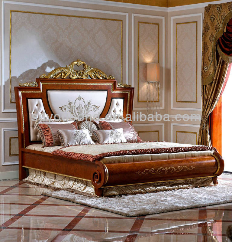 Fabulous Luxury Wooden Beds 0038 2014 High Quality Classic Furniture Italy Luxury Wooden