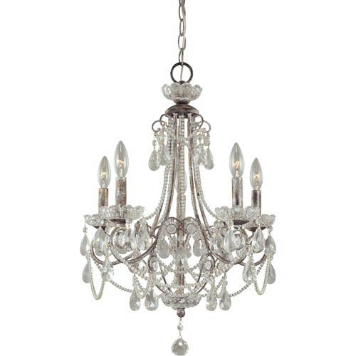 Fabulous Mini Crystal Chandelier Minka Lavery Distressed Silver Five Light Mini Chandelier On Sale