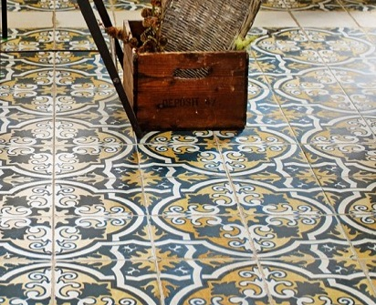 Fabulous Patterned Vinyl Flooring Great Patterned Vinyl Flooring Traditional Portuguese Tile Designs