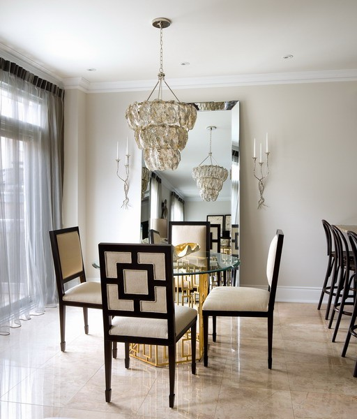 Fabulous Silver Dining Room Chandelier Gold Leaf Table Contemporary Toronto