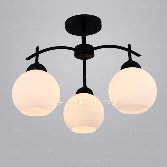 Fabulous Simple Ceiling Lights Simple And Modern 3 Light Semi Flush Ceiling Light In E27 Lamp Holder