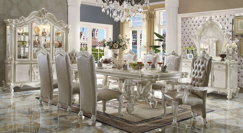 Fabulous White Dining Room Sets Formal Von Furniture Versailles Large Formal Dining Room Set In White
