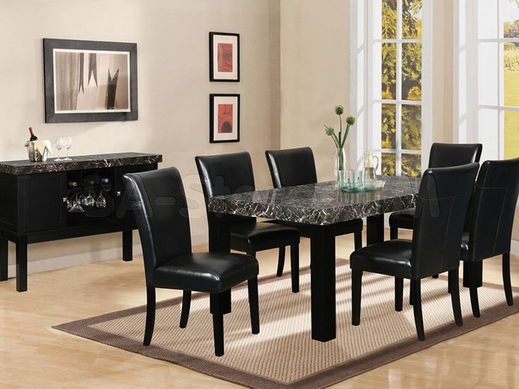 Gorgeous Black Dining Room Table And Chairs Chair Amusing Black Dining Room Table Chairs Sets Furniture