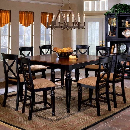 Gorgeous Black Dining Room Table And Chairs Tall Dining Room Tables Freedom To