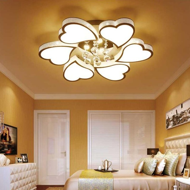 Gorgeous Bright Ceiling Light Aliexpress Buy Romantic Fashion Led Heart Shaped Ceiling