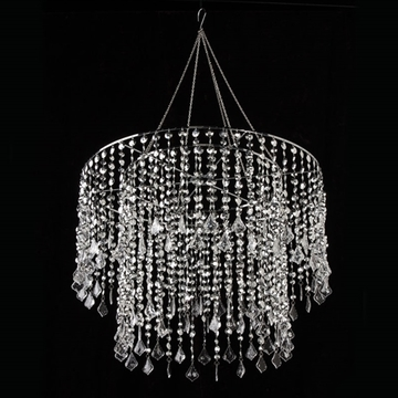 Gorgeous Chandelier Without Lights Crystal Beaded Chandelier With Light Kit 185 In Silver