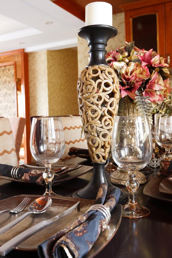 Gorgeous Expensive Dinner Table The Luxury Expensive Tableware On A Dinner Table Stock Images