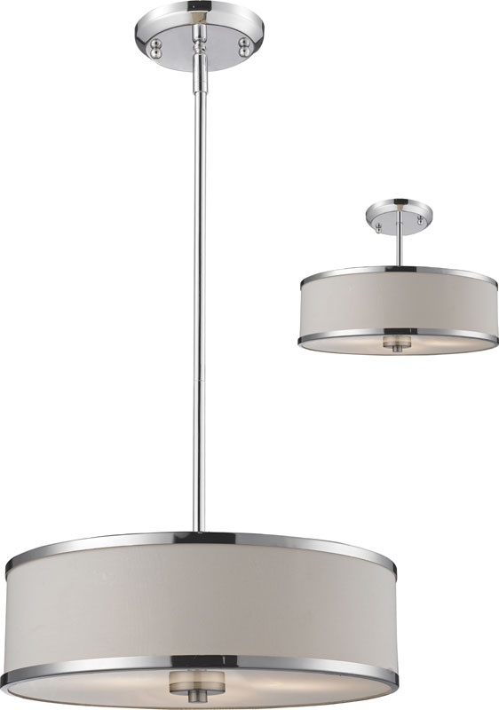 Gorgeous Hanging Ceiling Light Fixtures Creative Of Drum Ceiling Light Z Lite 164 16 Cameo Chrome 1563