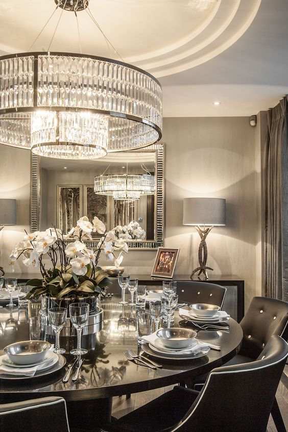 Fabulous Luxury Dining Room Decor Charming Images Of ...