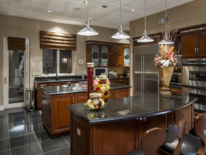Gorgeous Luxury Kitchen Island Dark Luxury Kitchen With Island Breakfast Bar Home Design Examples