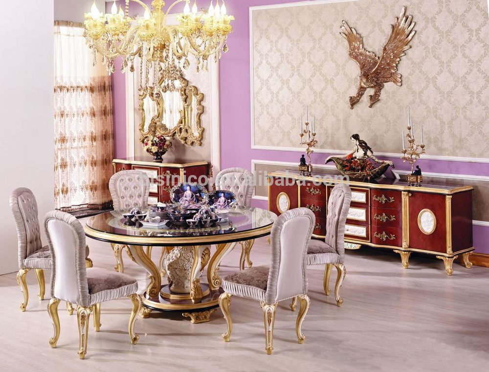 Gorgeous Luxury Round Dining Table Victorian Style New Classic Dining Room Furnitureluxury Round
