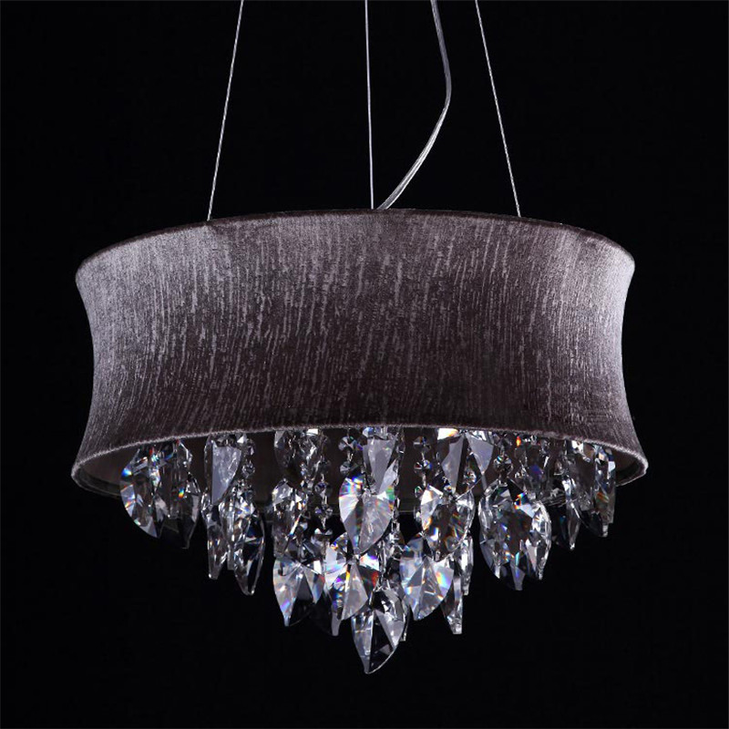 Gorgeous Modern Grey Chandelier Fumat Smoke Grey Crystal Chandelier Modern Suspension Light For