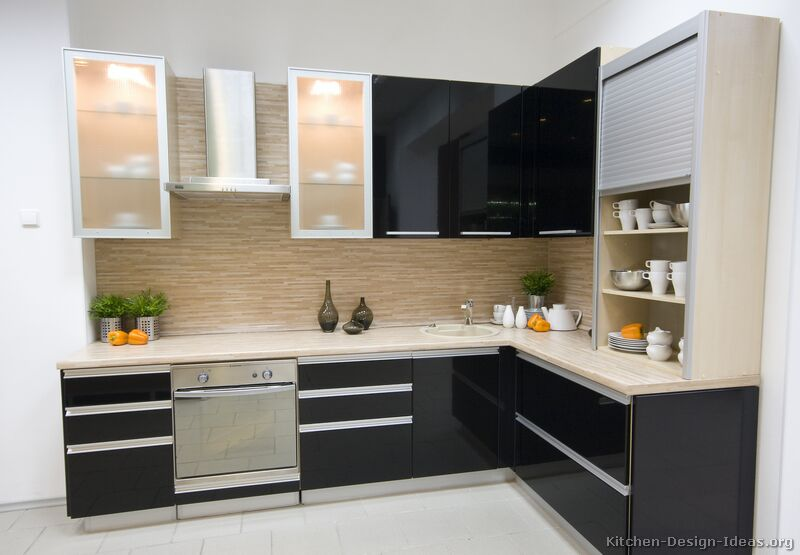 Gorgeous Modern Kitchen Design Cabinets Pictures Of Kitchens Modern Black Kitchen Cabinets Kitchen 3