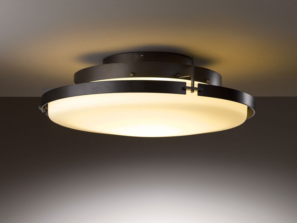 Gorgeous Overhead Lamp Fixtures Hubbardton Forge 126747d Metra 243 Wide Led Ceiling Light