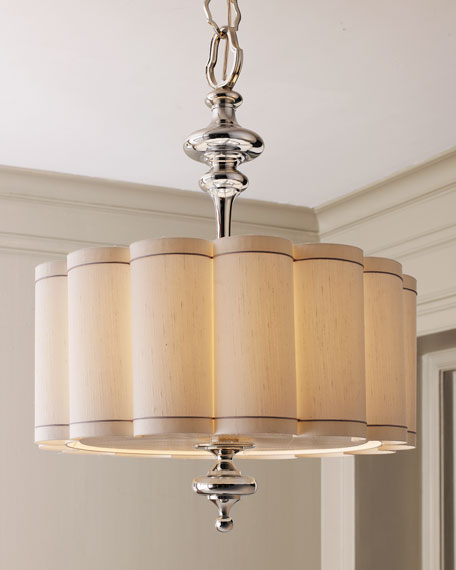 Gorgeous Scalloped Shade Chandelier Scalloped Shade Chandelier