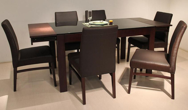 Incredible Wooden Glass Dining Table Designs Graceful Wooden And