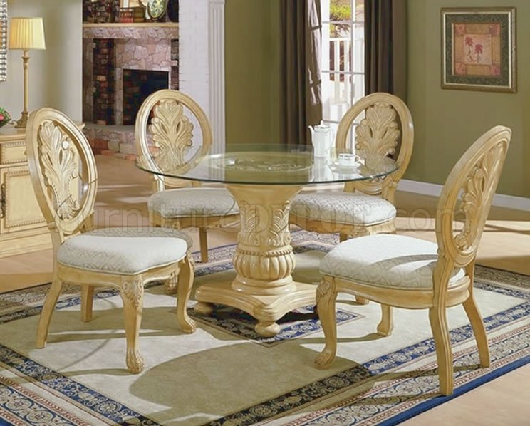 Innovative Antique White Dining Room Set Round White Kitchen Table