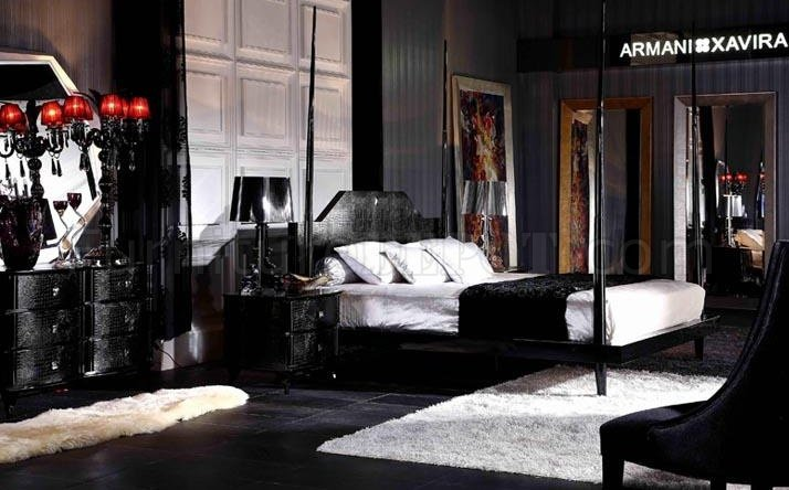 Great Black Lacquer Bedroom Furniture Black High Gloss Lacquer Transitional Style Bedroom Set