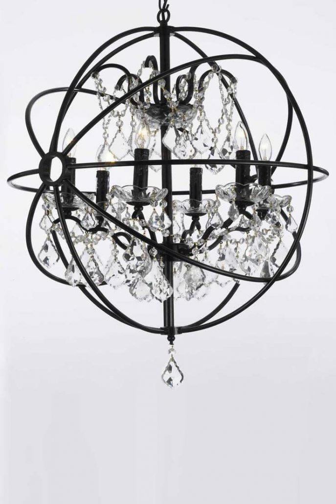Great Black Sphere Chandelier Chandelier Foucaults Orb Clear Crystal Chandelier Chrome Orb