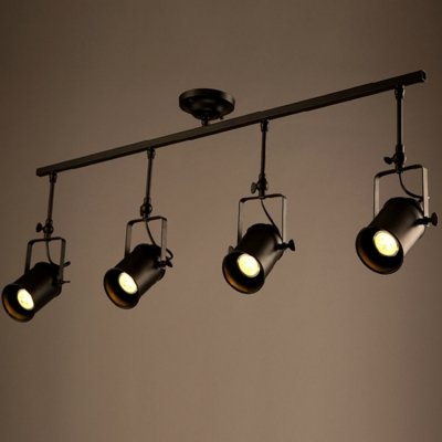 Great Ceiling Spot Light Fixtures Four Lights Spotlight Ceiling Fixture With Cylinder Shade