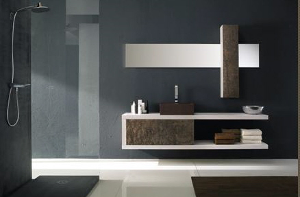 Great Contemporary Bath Cabinets Modern Bathroom Vanities Contemporary Design Intended For