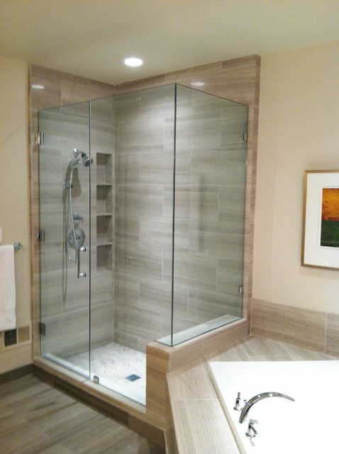 Great Contemporary Bathroom Showers Shower Contemporary Bathroom Dc Metro