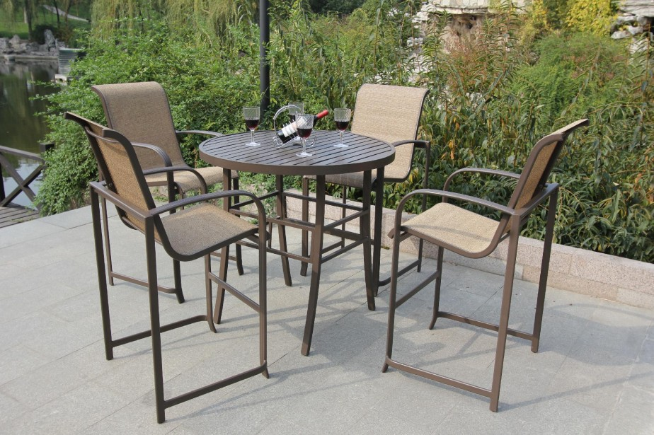 Great High Patio Chairs Inspiring Pub Height Outdoor Dining Sets Patio Dining Sets On