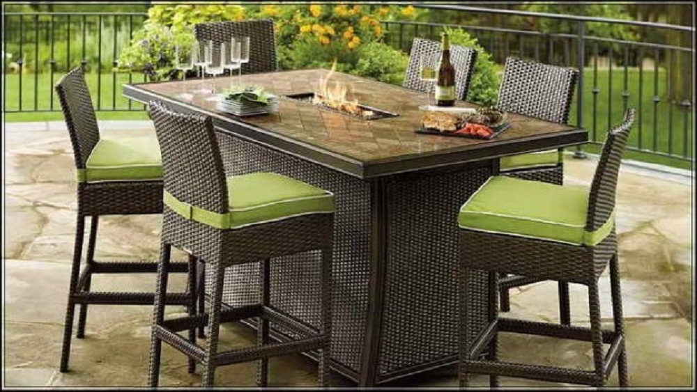 Great High Top Patio Table Furniture Ideas High Patio Set With Wicker Patio Furniture And