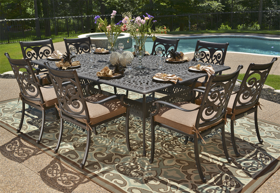 Great Luxury Outdoor Dining Table Cast Aluminum Patio Table Furniture Boundless Table Ideas