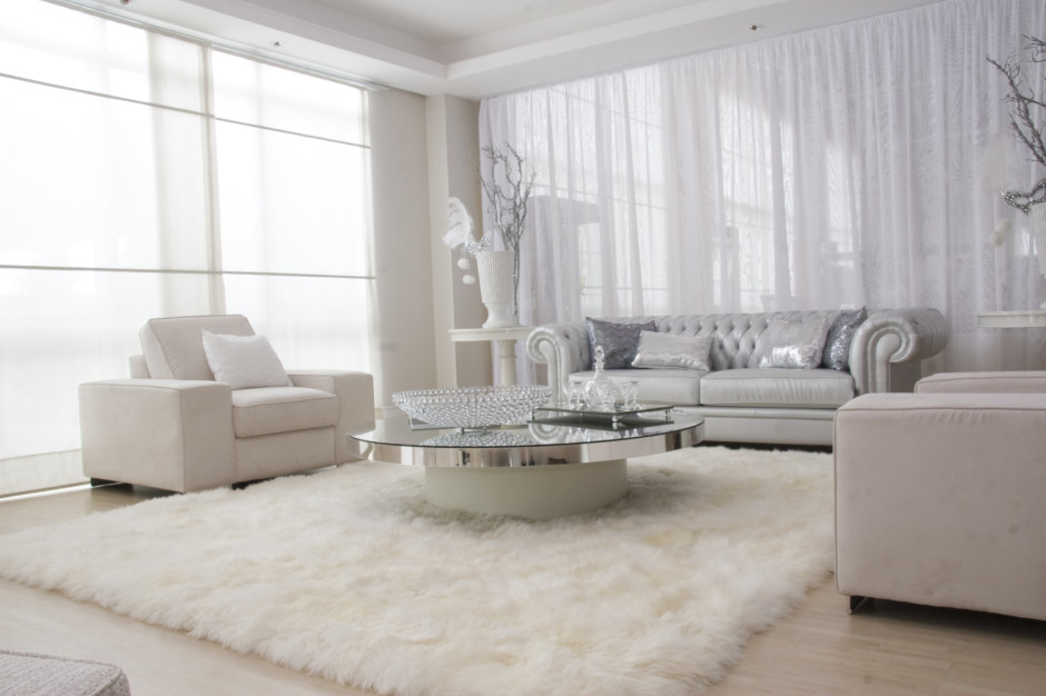 Great Luxury Rugs For Living Room Luxury Furry Rug Design In Modern White Living Room Hupehome