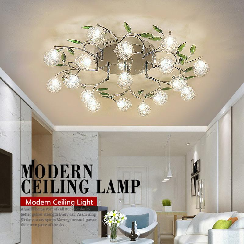 Great Modern Ceiling Lamp Shades 2018 Modern Lustre Crystal Led Ceiling Lamp Flower Lamp Shade