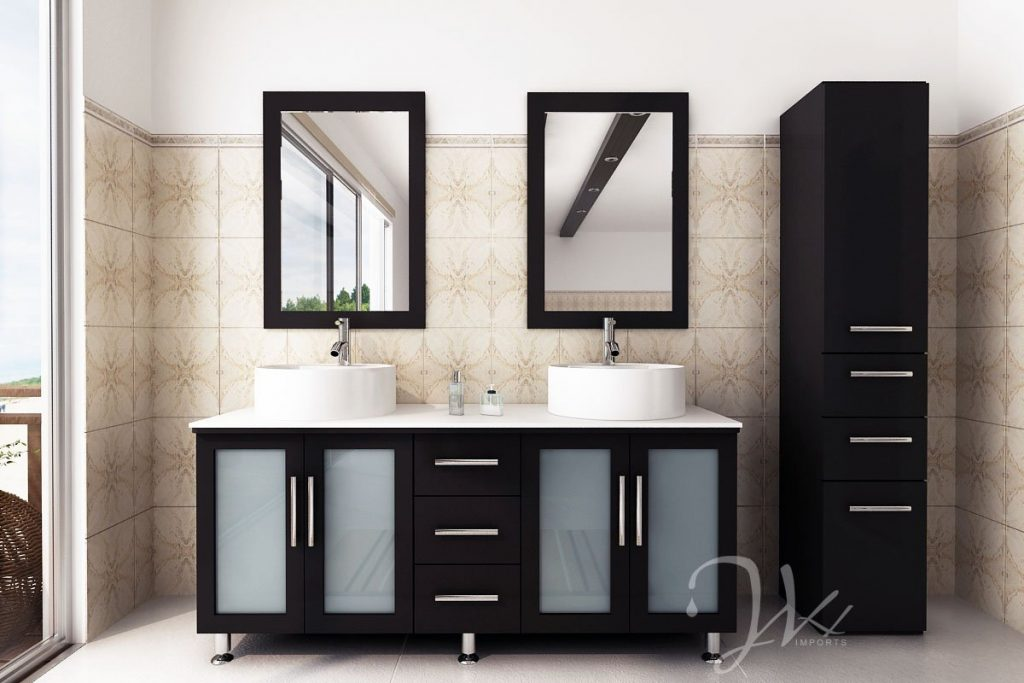 Great Modern Contemporary Vanity Breathtaking Small Bathroom Vanity With Vessel Sink 75 On Layout