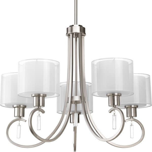 Great Nickel Chandeliers Lighting Fixtures Progress Lighting Invite Collection 5 Light Brushed Nickel