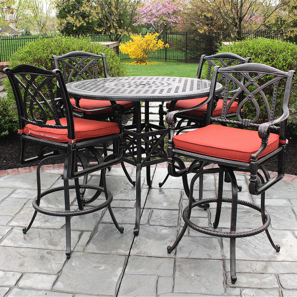 Great Patio Furniture High Table Grand Terrace Bar Height Patio Set Gensun Family Leisure Outdoor
