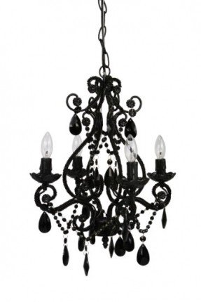 Great Small Black Chandelier Mini Black Chandeliers With Crystals Foter