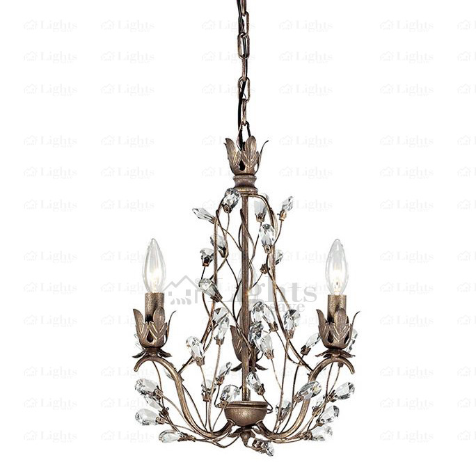 Great Small Crystal Chandelier Vintage 3 Light Twig Type Small Crystal Chandeliers