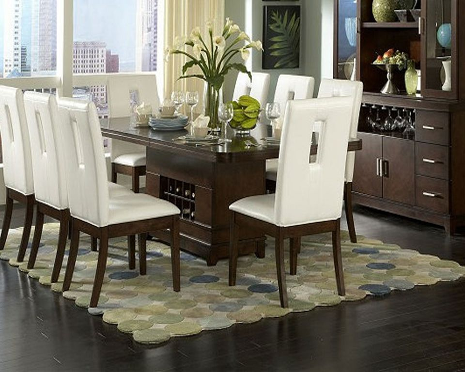 Great White Dining Table Decor Room Captivating Modern Contemporary