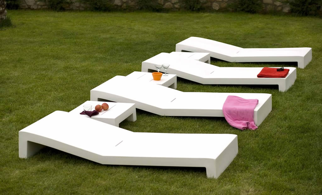 Great White Modern Patio Furniture Modern Outdoor Furniture Design Of Jut Tumbona White Vondom