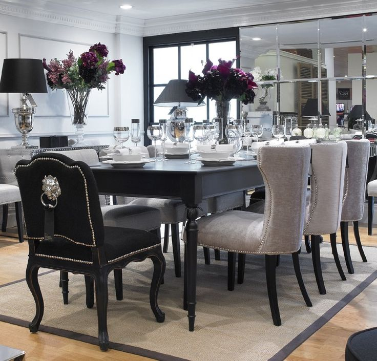 Impressive Black Dining Room Table And Chairs Remarkable Black Dining Table And Chairs With Dining Room