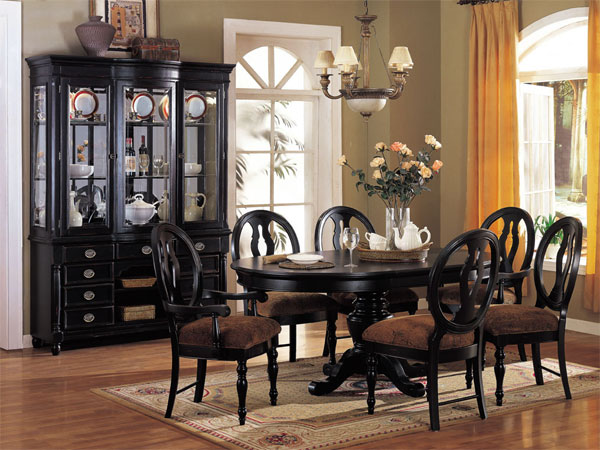 Impressive Black Dining Room Table And Chairs Wonderful Black Formal Dining Room Set 16 With Additional Used