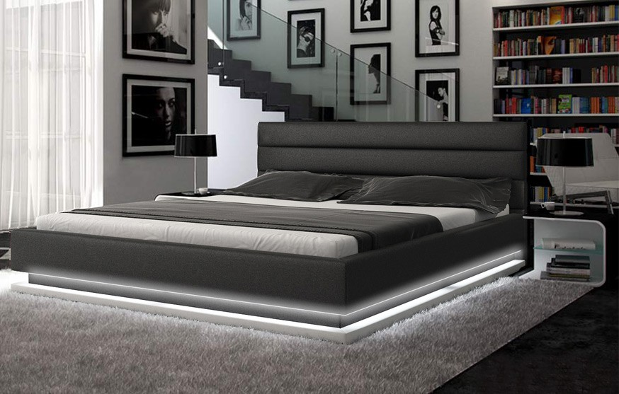 Impressive Contemporary Platform Bedroom Sets Contemporary Black Platform Bed W Lights