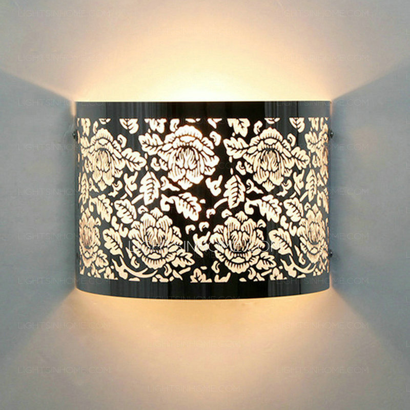 Impressive Fancy Lights For Bedroom Flower Carved Silver Shade Fancy Wall Lights For Bedroom