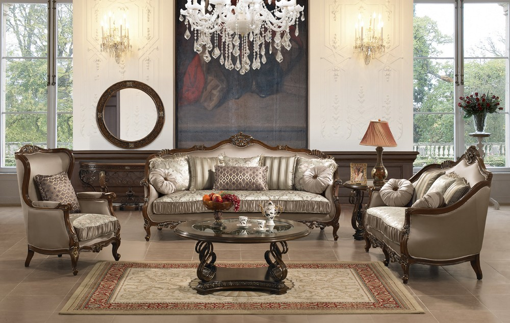 Great Formal Living Room Furniture Traditional Sofa Set For The