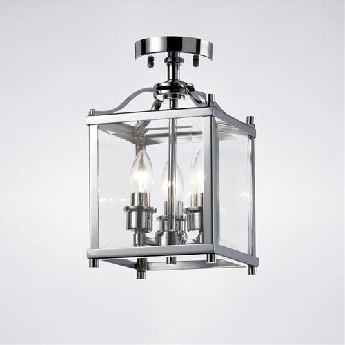 Impressive Lantern Ceiling Light Aston 3 Light Semi Flush Lantern The Lighting Superstore