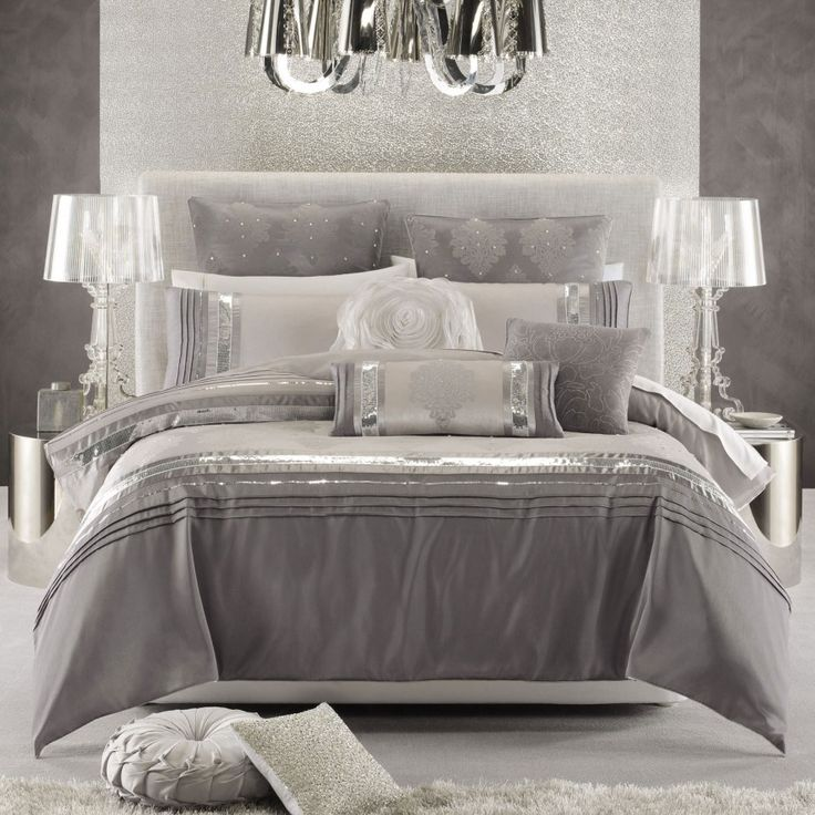 Impressive Luxurious Bedding Ideas Best 25 Silver Bedding Ideas On Pinterest Quilted Headboard